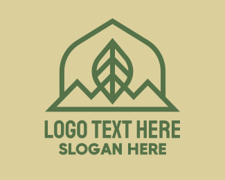 Outdoors - Green Leaf Mountain logo design