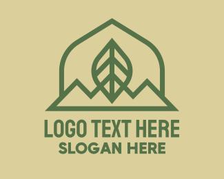 Green Leaf - Green Leaf Mountain logo design