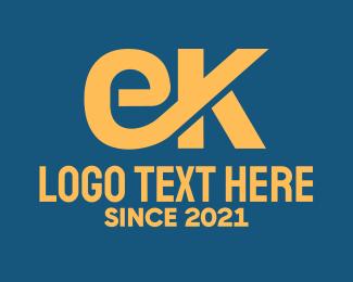 Monogram - Yellow EK Monogram  logo design