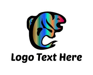 Fishing - Psychedelic Fish logo design