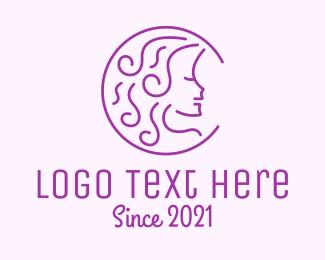 Beauty  Salon - Purple Woman Salon logo design