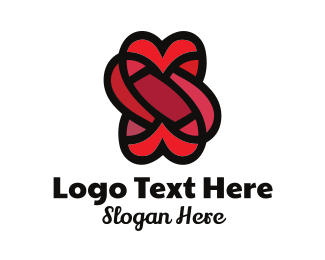 Wedding - Heart Wedding Knot logo design