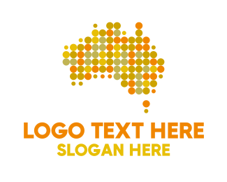 Singapore Map - Colorful Dot Australia logo design