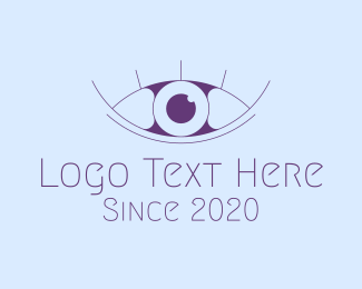 Minimalist Eye & Eyelashes Logo