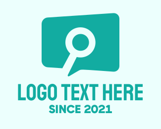 Search Engine - Conversation Search logo design