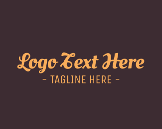 Word - Brown Cursive Font logo design