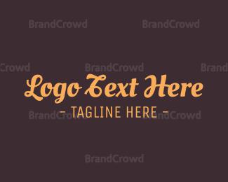 Conservative - Brown Cursive Font logo design