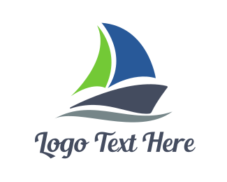 Sail - Abstract Sail Boat logo design