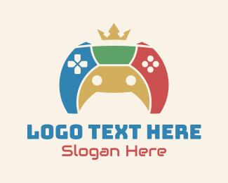 Fortnite - Colorful Royal Gamepad logo design