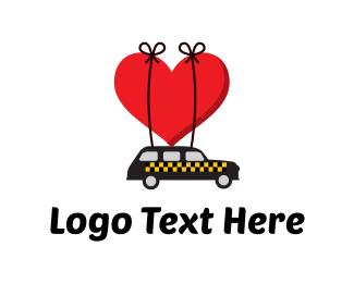 Car Service - Taxi Love logo design