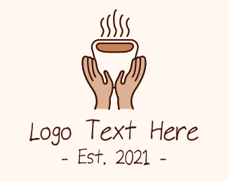 Hot Chocolate - Hot Coffee Cup Hands logo design