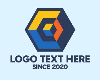 Digital Printing - Modern 3D Cube logo design