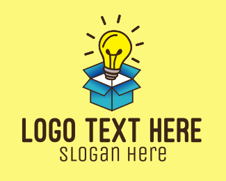 Solution - Lightbulb Box Idea logo design