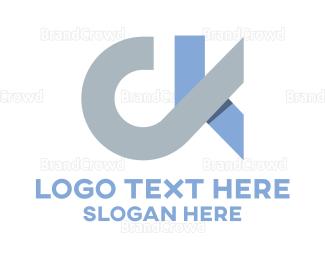 Ck - C & K logo design