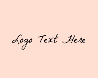 Manicure - Retro Handwriting logo design