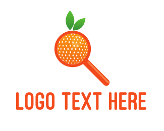 Finder - Orange Search logo design