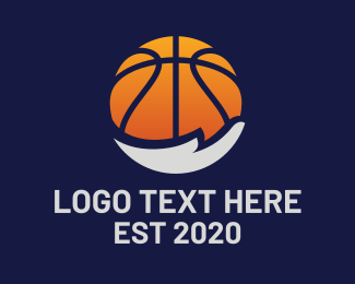 Tourney - Basketball Hand logo design