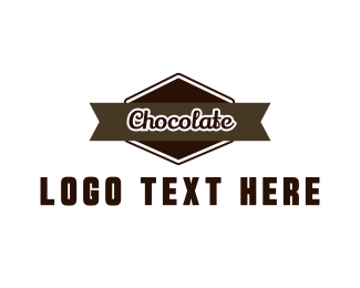 Brown Cupcake - Chocolate Label logo design