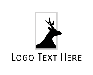 Hunt - Frame Deer logo design