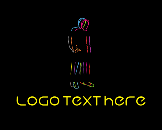 Black Man - Neon Man logo design