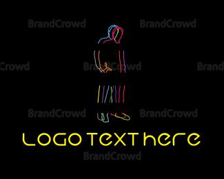 Man - Neon Man logo design