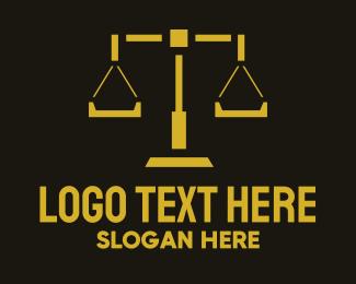 Legal - Legal Scales logo design