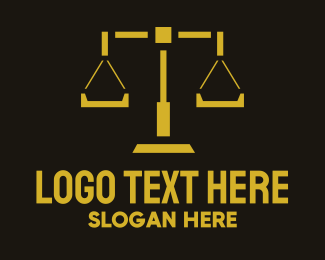 Attorney And Legal Legal Scales logo design