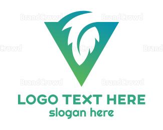 Triangle - Triangle Leaf logo design