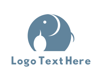 Trunk - Happy Elephant logo design