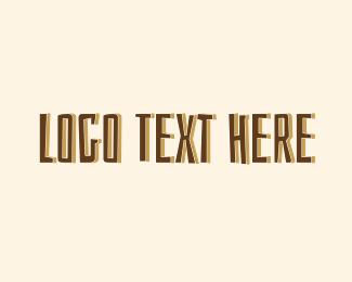 Text - Brown Safari Text logo design