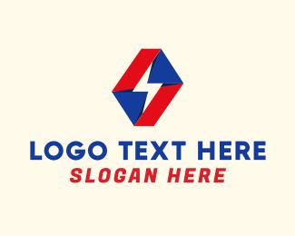 Lightning - Origami Lightning logo design