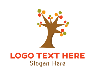 Fall - Autumn Tree logo design