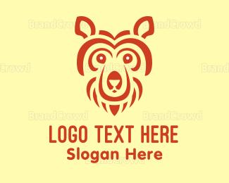 Bear Hug - Abstract Bear Head logo design