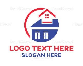 Broker - Builder Red House logo design
