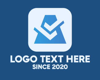 Check Mark - Blue Business Check logo design