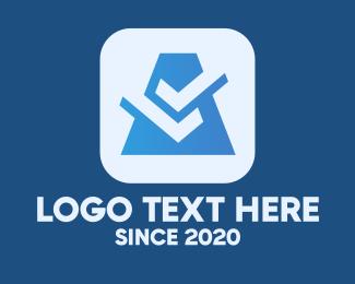 Business - Blue Business Check logo design