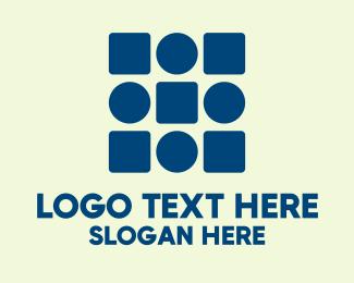 Geometric Shapes - Modern Circle And Square logo design