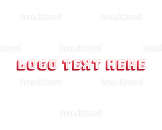 Shadow - Retro Red Typeface logo design