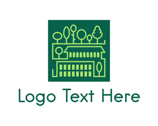 Park - Square Green Town logo design