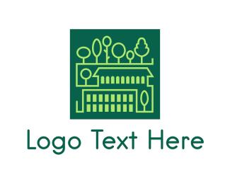 Town - Square Green Town logo design