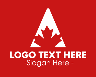 Ontario - Red Maple logo design
