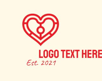 Valentine - Valentine Heart Outline  logo design
