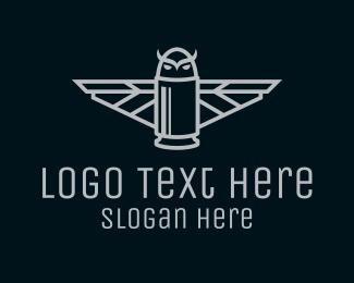 Firearm - Bullet Owl logo design