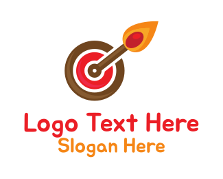 Archer - Target Matchstick logo design