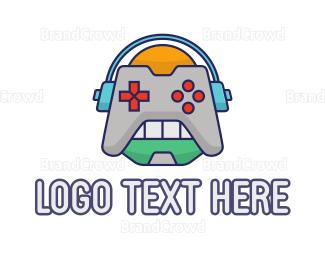 Gaming - Robot Game Controller logo design