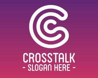Random Modern Stroke Letter C logo design