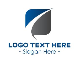 Oblong - Serious Business Swoosh logo design