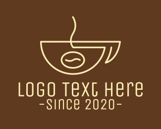 Robusta - Simple Coffee Bean Cup logo design