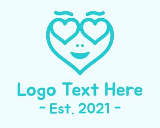 Fashion Accessory - Blue Heart Head logo design