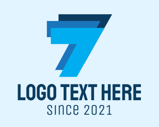 Cpa - Blue Triple Number 7  logo design